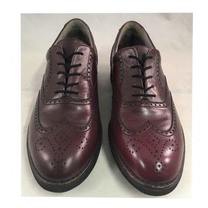 Rockport Brogue Wingtip Shoes Cordovan Leather
